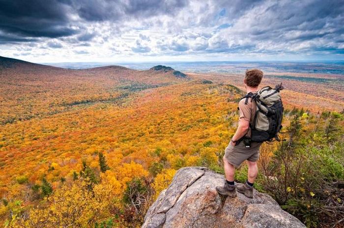 Mountains route Quebec, Canada