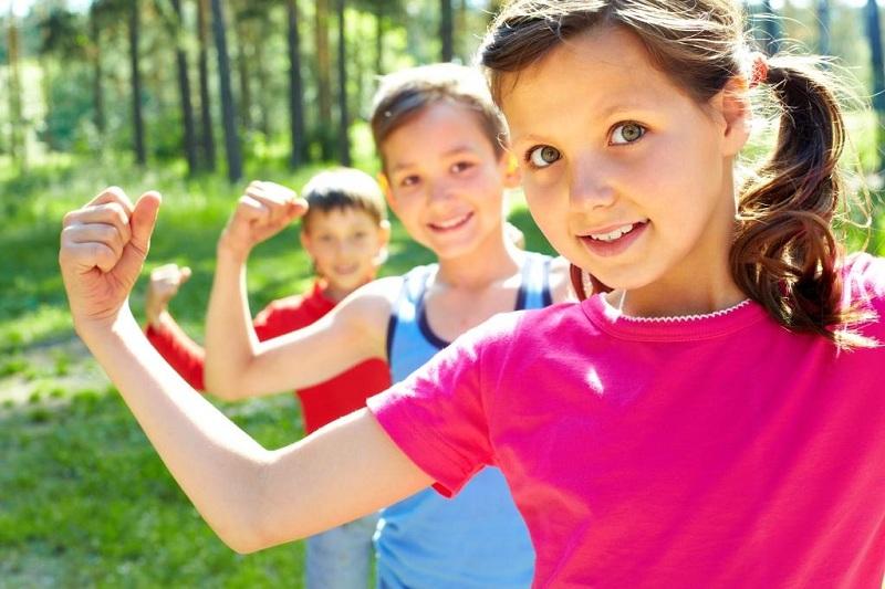 Morning Exercise On The Street For Children
